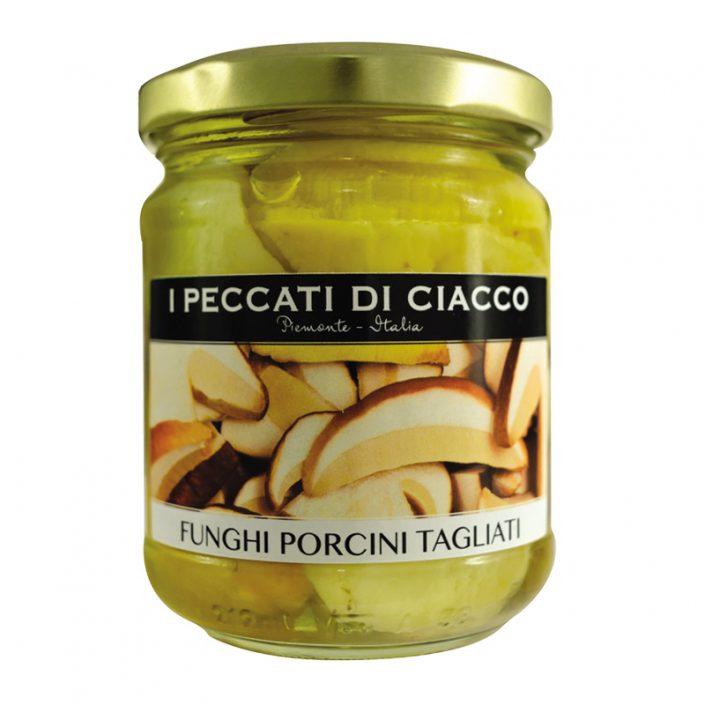 FUNGHI PORCINI TAGLIATI IN OLIO DI OLIVA • Sliced Porcini Mushrooms in Olive Oil