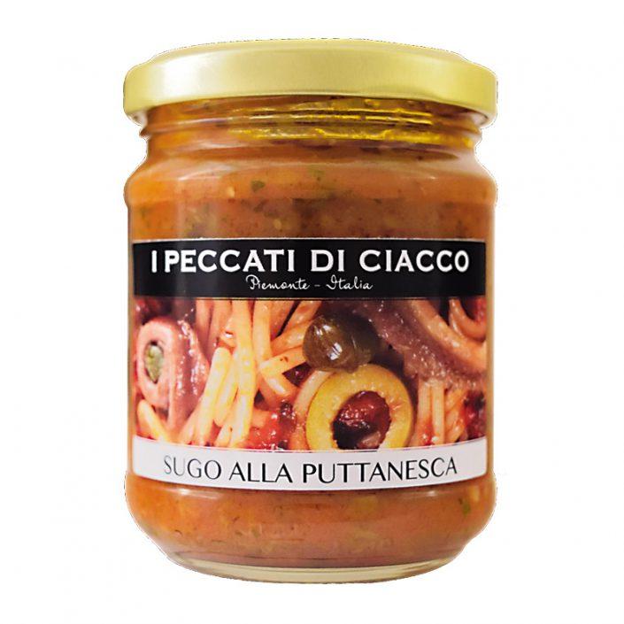 SUGO ALLA PUTTANESCA • Anchovy, Garlic, Olive & Tomato Sauce