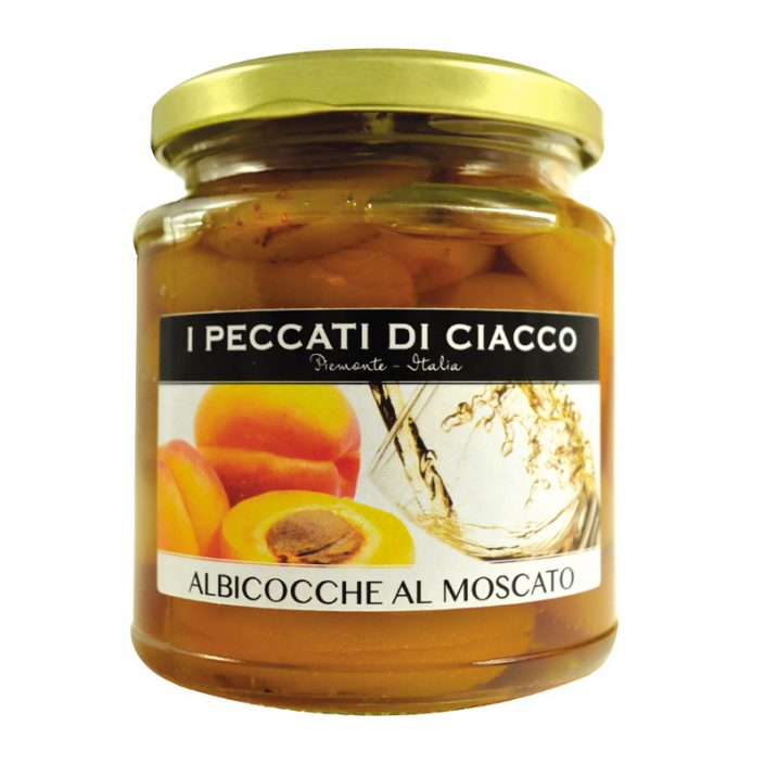 ALBICOCCHE AL MOSCATO D'ASTI DOCG • Oven-dried Apricots in DOCG Moscato d'Asti Wine